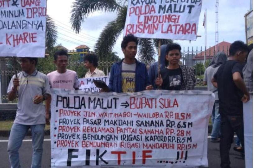 Mahasiswa Sula Soroti Kinerja Polda Maluku Utara