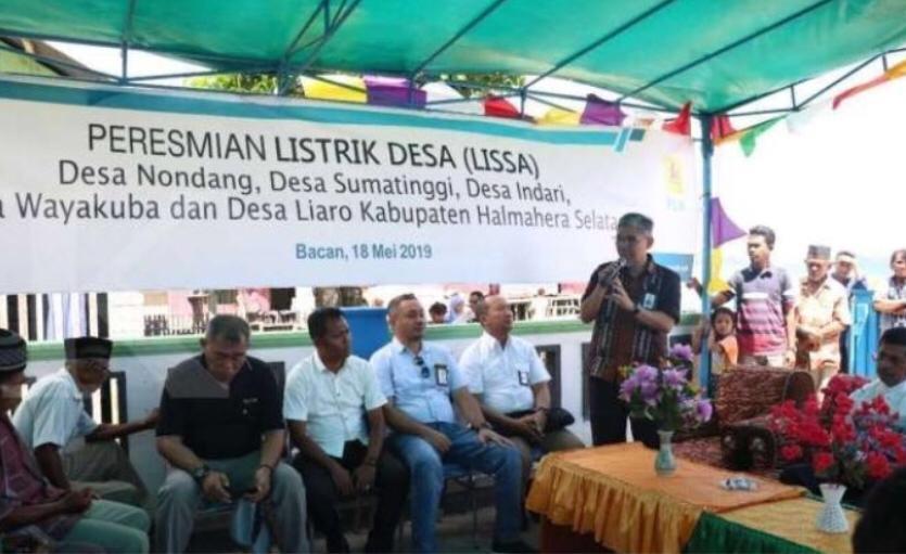Kejar Rasio Elektrifikasi, PLN Aliri Listrik Lima Desa di Halmahera Selatan