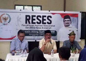Anggota DPD RI Husain Alting Serap Aspirasi Warga Malut