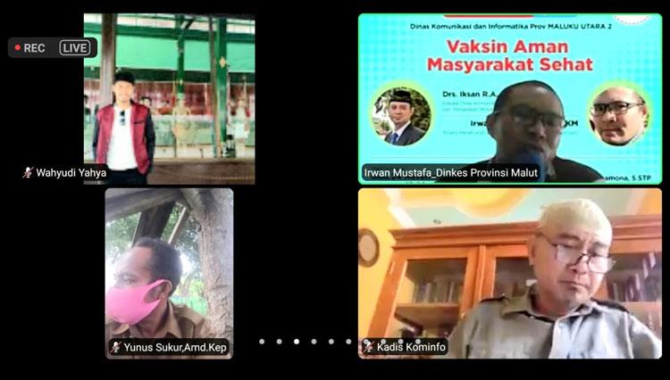 KPCPEN Gelar Webinar Wilayah Malut, Bahas Vaksin Hingga Strategi Komunikasi Pencegahan Covid-19