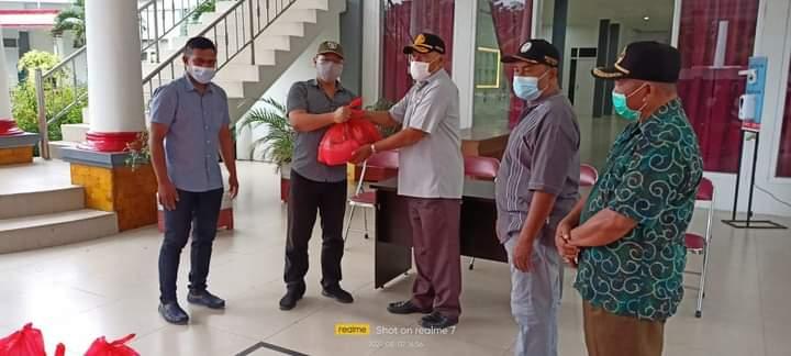 PT. Harita Grup Serahkan Bantuan 250 Paket Sembako Kepada Pemda Halsel, Terhadap Masyarakat Terkena Dampak Pandemi Covid 19