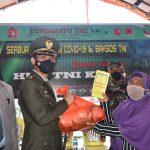 Warga Halsel Sambutan Antusias Serbuan Vaksinasi dan Baksos Dalam Rangka HUT TNI Ke-76